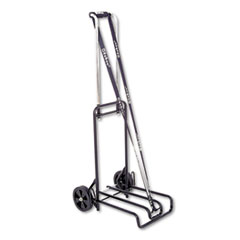STEBCO Luggage Cart, 250lb Capacity, 12 1/4 x 13 Surface, Black/Chrome