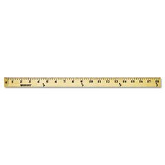 Westcott Wood Yardstick with Metal Ends, 36