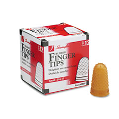 Swingline Rubber Finger Tips, Size 11, Small, Amber, 1/Dozen