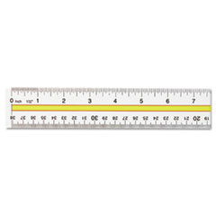 Westcott Acrylic Data Highlight Reading Ruler With Tinted Guide, 15