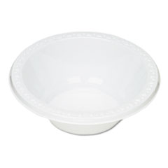 Tablemate Plastic Dinnerware, Bowls, 12oz, White, 125/Pack