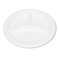Tablemate Plastic Dinnerware, Compartment Plates, 9