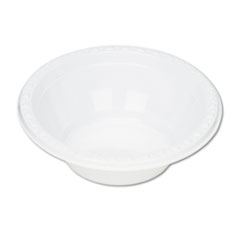 Tablemate Plastic Dinnerware, Bowls, 5 oz., White, 125/Pack