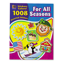 Teacher Created Resources Sticker Book, For All Seasons, 1,008/Pack