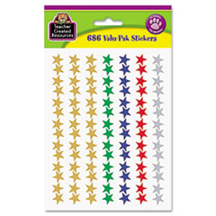 Teacher Created Resources Sticker Valu-Pak, Foil Stars, 686/Pack