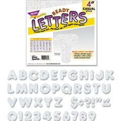 TREND Ready Letters Sparkles Letter Set, Silver Sparkle, 4