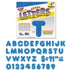 TREND Ready Letters Sparkles Letter Set, Blue Sparkle, 4