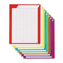 TREND Vertical Incentive Chart Pack, 22w x 28h, 8 Assorted Colors, 8/Pack