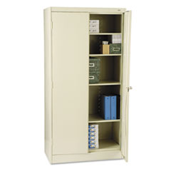"72"" High Standard Cabinet, 36w x 18d x 72h, Putty"