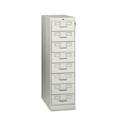 TNN CF846LGY Tennsco Eight-Drawer Multimedia/Card File Cabinet TNNCF846LGY