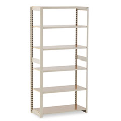 Regal Shelving Add-On Unit, 6 Shelves, 36w x 18d x 76h, Sand