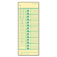 TOPS Time Card for Acroprint/Simplex, Weekly, Two-Sided, 3 1/2 x 9, 500/Box