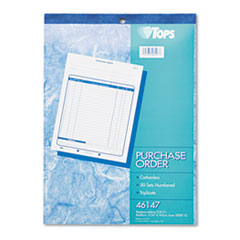 Purchase Order Book, 8-3/8 x 10 3/16, Three-Part Carbonless, 50 Sets/Book