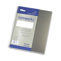 TOPS Noteworks Project Planner w/Poly Cover, 8-1/2 x 6-3/4