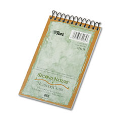 TOPS Second Nature Subject Wirebound Notebook, Narrow Rule, 3 x 5, WE, 50 Sheets