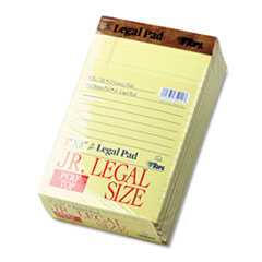 The Legal Pad Jr. Ruled Perforated Pads, 5 x 8, Canary, 50 Sheet Pads, 12/Pack