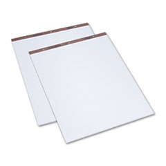 Easel Pads, Unruled, 27 x 34, White, 50-Sheet Pads, 2 Pads/Carton