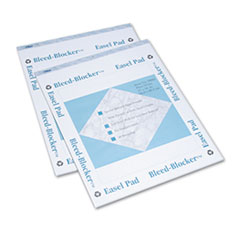 TOPS Bleed-Blocker Easel Pad, Unruled, 27 x 34, White, 2 40-Sheet Pads/Pack
