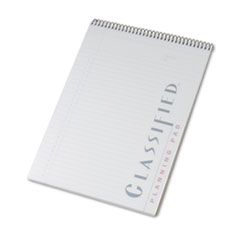TOPS Classified Colors Notebook w/White Cover, Lgl Rule, Ltr, Orchid, 70 Sheets