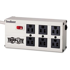 Tripp Lite ISOBAR6 Isobar Surge Suppressor, Metal, 6 Outlet, 6ft Cord, 3330 Joules