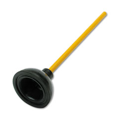 UNISAN Plunger for Drains or Toilets, 20 Handle w/4h x 6 Diameter Rubber Plunger