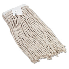 UNISAN Cut-End Wet Mop Head, Cotton, No. 16 Size, White