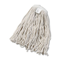 UNISAN Cut-End Wet Mop Head, Cotton, No. 20, White