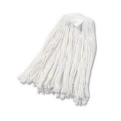 UNISAN Cut-End Wet Mop Head, Rayon, #20 Size, White