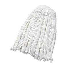 UNISAN Cut-End Wet Mop Head, Rayon, No. 24, White