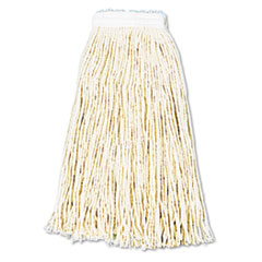 UNISAN Premium Cut-End Wet Mop Heads, Cotton, 16-oz., White, 12/Carton