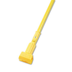 UNISAN Plastic Jaws Mop Handle for 5 Wide Mop Heads, 60in , Aluminum Handle, Yellow