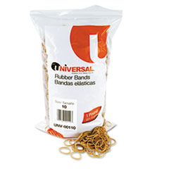 Universal Rubber Bands, Size 10, 1-1/4 x 1/16, 3400 Bands/1lb Pack