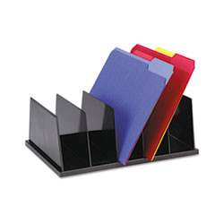 Universal Large Desktop Sorter, Five Sections, Plastic, 13 1/2 x 9 1/8 x 5, Black