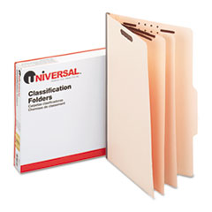 Universal Manila Classification Folders, Legal, Six-Section, 15/Box