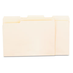 Universal Recycled Interior File Folders, 1/3 Cut Top Tab, Letter, Manila, 100/Box