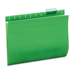 Universal Hanging File Folders, 1/5 Tab, 11 Point Stock, Letter, Green, 25/Box