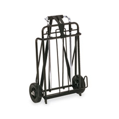 Innovera Luggage Cart, 250lb Capacity, 15 x 14 Platform, Black/Chrome