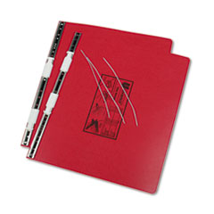 Universal Pressboard Hanging Data Binder, 14-7/8 x 11 Unburst Sheets, Red