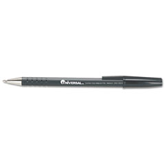 Universal Comfort Grip Ballpoint Stick Pen, Black Ink, Medium, Dozen