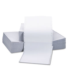 Universal Two-Part Carbonless Paper, 15lb, 9-1/2 x 11, Perforated, White, 1650 Sheets