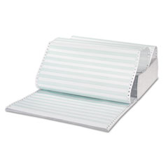 Universal Green Bar Computer Paper, Perforated 3-Part Carbonless, 14-7/8 x 11, 1100 Sheets