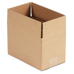 Universal Corrugated Kraft Fixed-Depth Shipping Carton, 6w x 10l x 6h, Brown, 25/Bundle