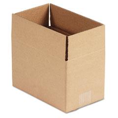 Universal Corrugated Kraft Fixed-Depth Shipping Carton, 6w x 10l x 6h, Brown, 25/Bundle