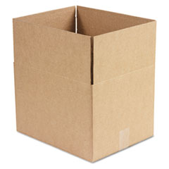 Universal Corrugated Kraft Fixed-Depth Shipping Carton, 12w x 15l x 10h, Brown, 25/Bundle