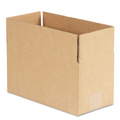 Universal Corrugated Kraft Fixed-Depth Shipping Carton, 6w x 12l x 6h, Brown, 25/Bundle