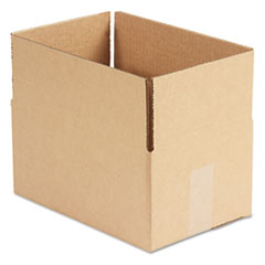 Universal Corrugated Kraft Fixed-Depth Shipping Carton, 8w x 12l x 6h, Brown, 25/Bundle