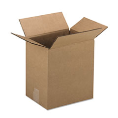 Universal Corrugated Kraft Fixed-Depth Shipping Carton, 9w x 12l x 3h, Brown, 25/Bundle