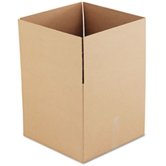 Universal Corrugated Kraft Fixed-Depth Shipping Carton, 18w x 18l x 16h, Brown, 15/Bundle