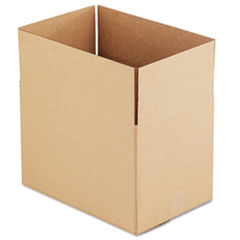 Universal Corrugated Kraft Fixed-Depth Shipping Carton, 12w x 18l x 12h, Brown, 25/Bundle