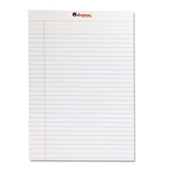 Universal Perforated Edge Writing Pad, Legal Ruled, Letter, White, 50-Sheet, Dozen